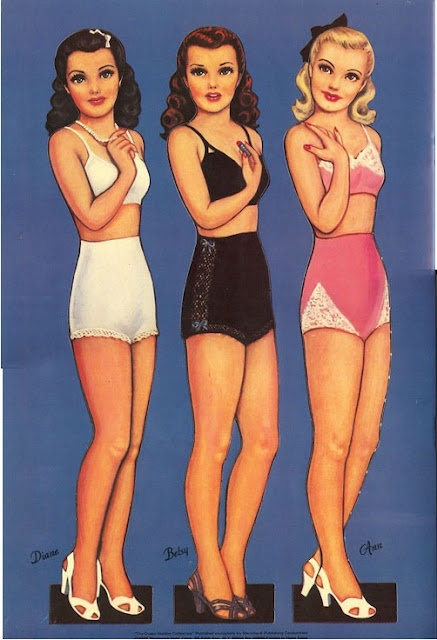 PD230 Glamour Girls Paper Dolls