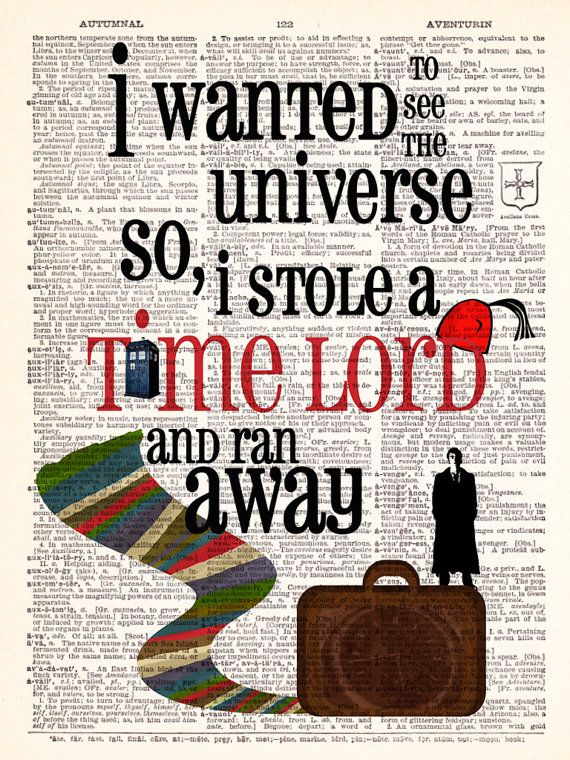 Dr Who Stolen Time Lord Geekery David Tennant by TheRekindledPage, $6.98