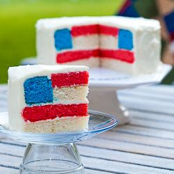 #130275 - July 4th Flag Cake By TasteSpottingCake Recipe, Fourth Of July, Red White Blue, Blue Cake, Flags Cake, 4Th Of July, Wedding Cake, Independence Day, Parties Food