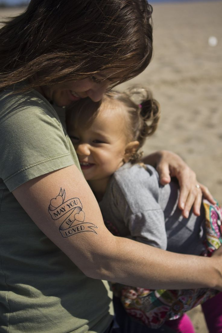 Da da danielle colby cushman tattoos - The Perfect Temporary Tattoo For Pregnant And New Families To Wear Express And Ground Themselves In The Love They Have For Their Baby