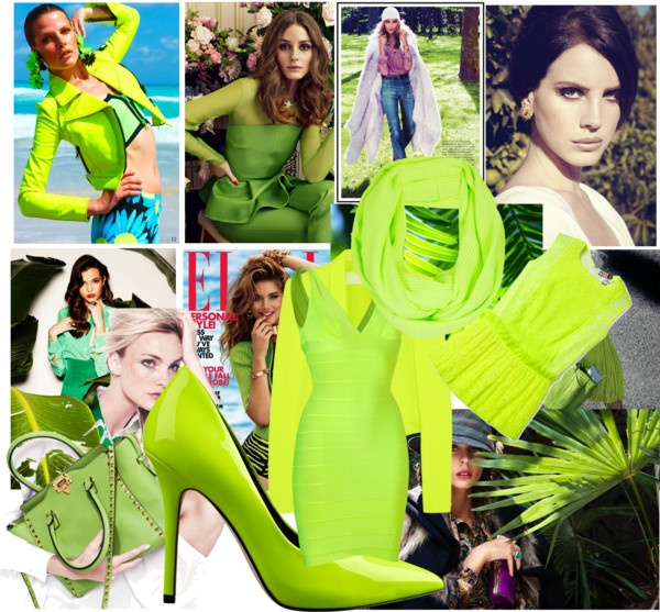 """Neon green outfit"" by ashley-lively ❤ liked on Polyvore"