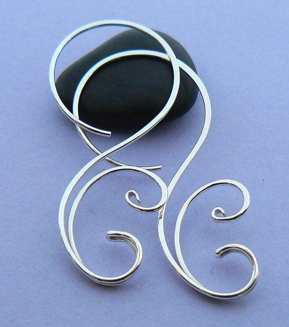 Silver hoop earrings 14k gold filled hoop by atelierblaauw
