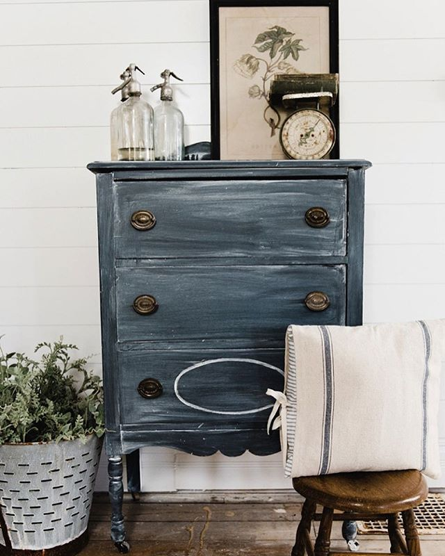 Wow! I didn't paint something white. This is worth documenting lol. I shared this little antique dresser makeover & how I achieved this finish on the blog today: LizmarieBlog.com - link in my profile. What do you guys think?!? #whitecottagefarm