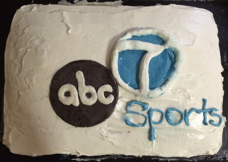 abc7 cake. We made this cake for our clients in the sports department of abc7 News. All fondant decorations were made by hand. Go check our website to see more desserts made by the color cakes team and recipes.