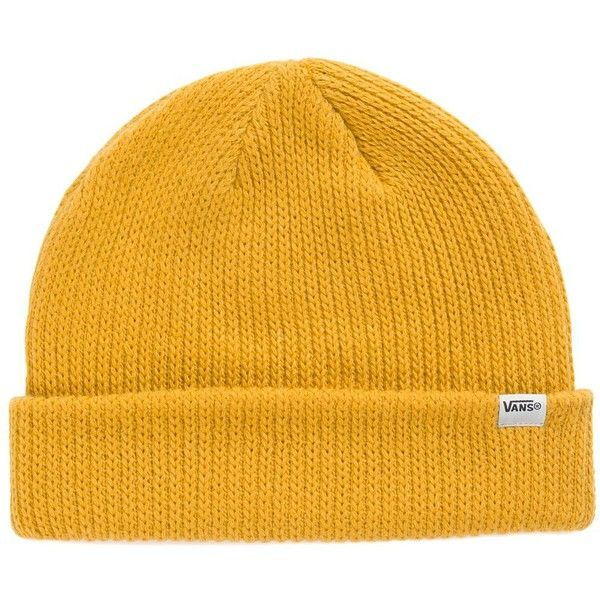 Vans Core Basics Beanie (66 ILS) ❤ liked on Polyvore featuring men's fashion, men's accessories, men's hats, yellow and mens beanie hats