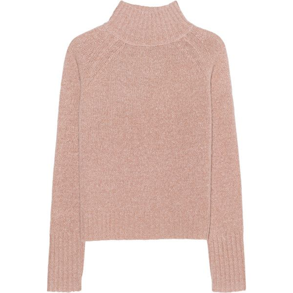 360 SWEATER Anat Bronze // Fine knit pullover (€279) ❤ liked on Polyvore featuring tops, sweaters, jumper, long sleeves, pink cropped sweater, crew neck sweaters, pink sweater, pink pullover sweater and pink crop top