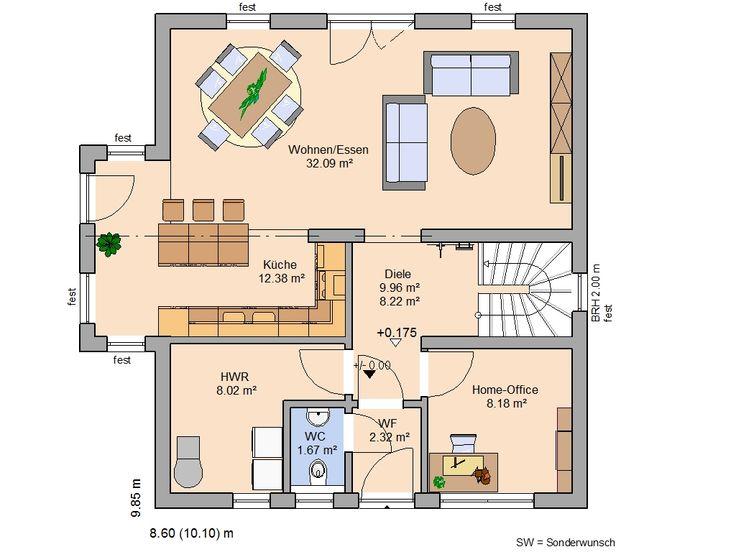 die besten 17 ideen zu massivhaus bauen auf pinterest massivhaus stadtvilla und grundriss. Black Bedroom Furniture Sets. Home Design Ideas