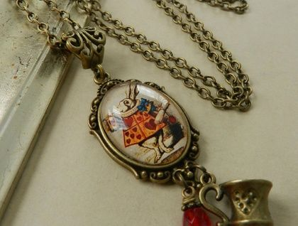 ~White Rabbit~ Wonderland Inspired Necklace