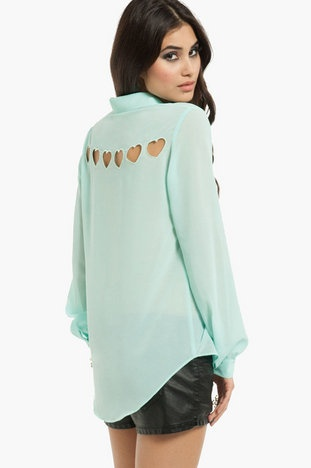 Hearts About Blouse $48 at www.tobi.com
