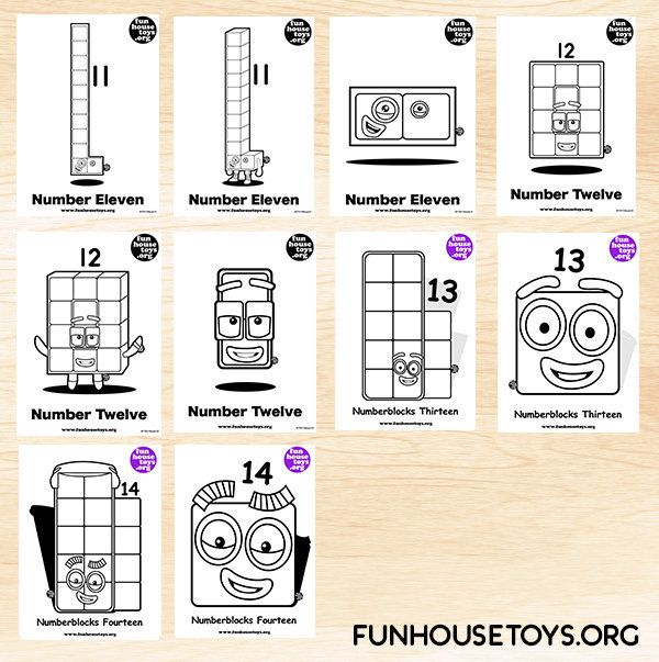 Fun House Toys Numberblocks Crafts For Kids Fun Coloring Pages