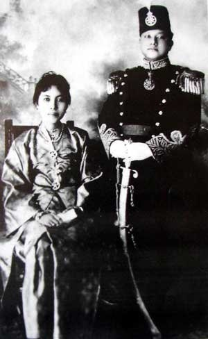 The Late XII Sultan of Siak Sri Indrapura and his Royal Queen.