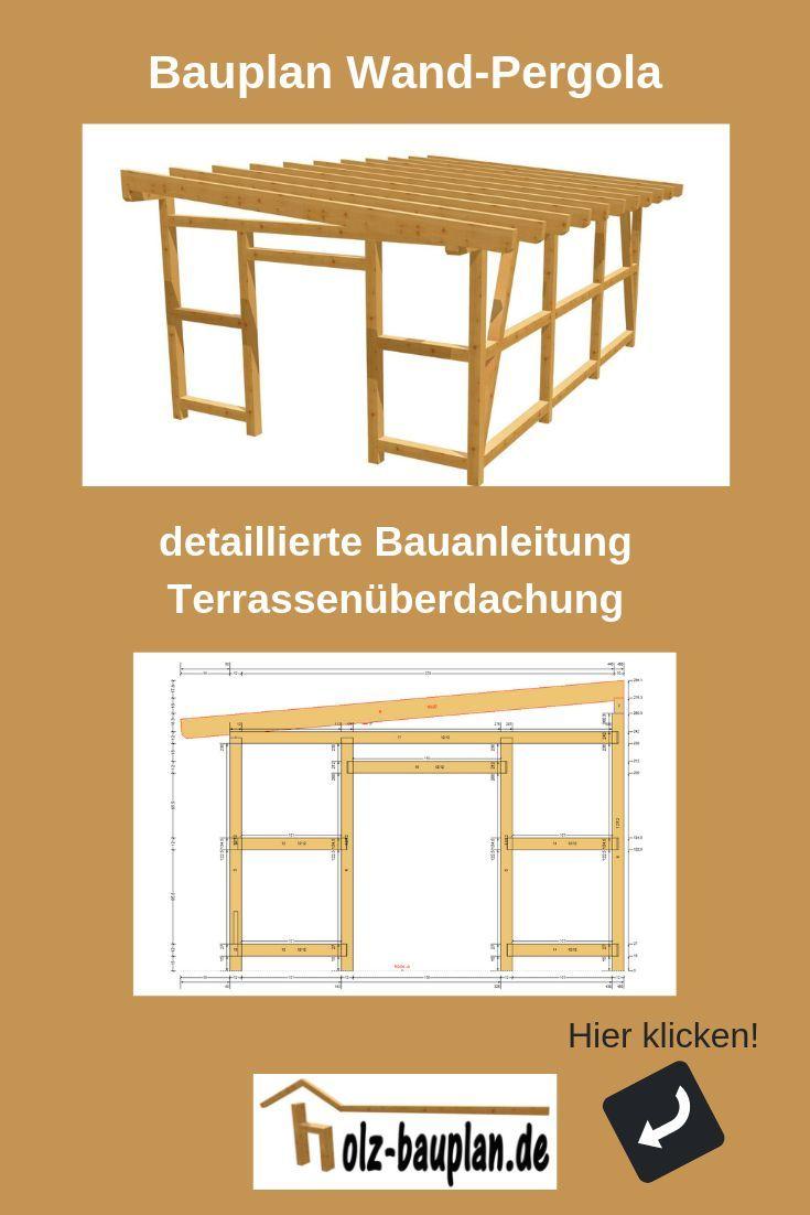 Pergola Bauplan Pdf Sofort Download Individuell Erstellt Holz