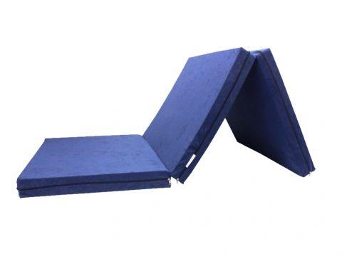 Skládací matrace pro hosty modrá 8 cm