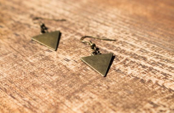 Boucle d'oreille bronze antique boucle d'oreille par CalliCraftArt