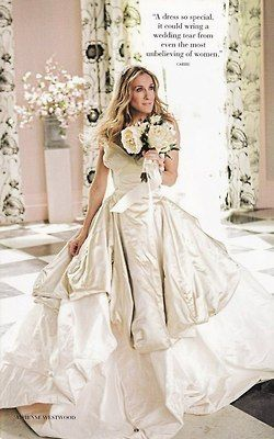 Sex and the City Gorgeous wedding dress for Carrie Bradshaw! LOVE IT!!!!