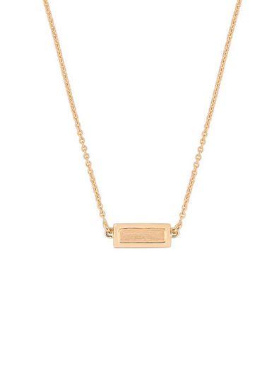 Ginette NY - Tiny Lingot Necklace - Rose Gold
