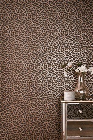 Leopard Print Wallpaper & Mirrored Drawer Unit - Love Love Love