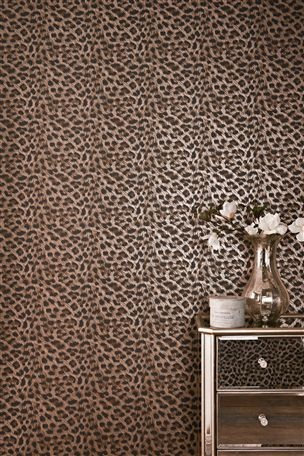 Leopard Print Wallpaper & Mirrored Drawer Unit - Love Love Love
