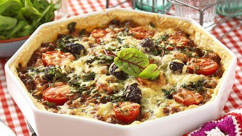 Spenat-+och+köttfärspaj+med+parmesanost
