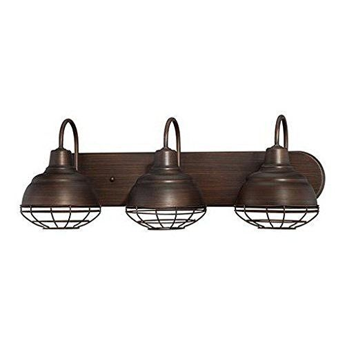 View the millennium lighting 5423 neo industrial 3 light bathroom vanity light