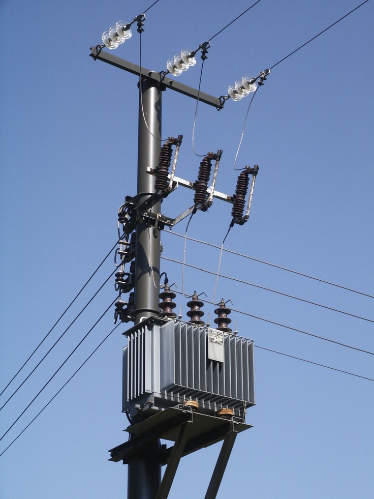 Pole Mounted Substation Which Can Be Either Used With A