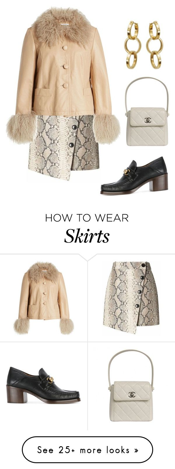 """Untitled #2127"" by lucyshenton on Polyvore featuring Banana Republic, Saks Potts, Chanel and Gucci"