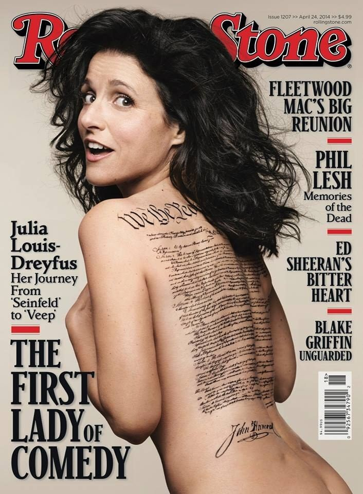 Julia Louis-Dreyfus Is Naked And Patriotic On The Cover Of Rolling Stone