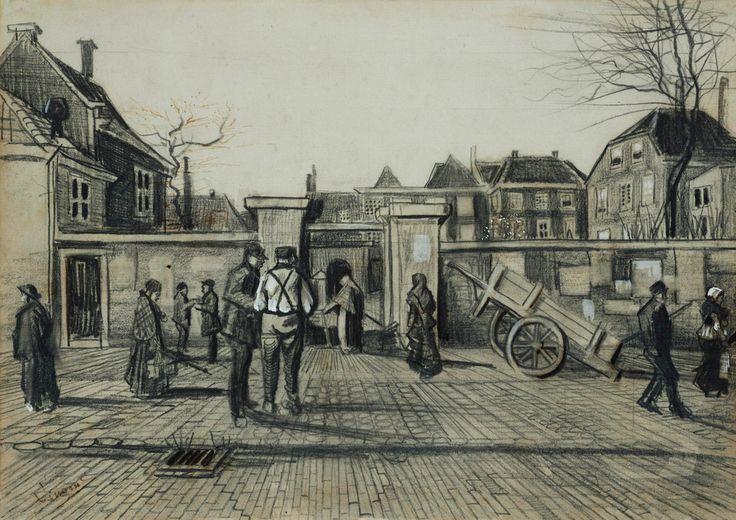 Vincent van Gogh , De ingang van de Bank van Lening, Den Haag ,1882