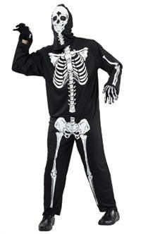 İskelet Kostümü, Lüks Yetişkin M/L Parti Kostümleri - Yetişkin Parti Kostümleri Cadılar Bayramı / Halloween Kostümleri:  Kostümlü Parti, Kıyafet Balosu, Korku Temalı Partiler için ideal kostüm.  Üstü baskılı polyester kostüm başlık ve tulumdan oluşur. Eldiven kostüme dahil değildir!