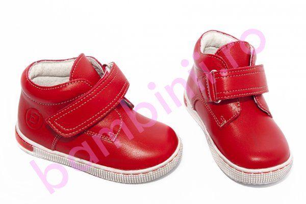 Ghete copii piele leofex 123 rosu 19-25. Incaltaminte din piele pentru copii si adulti - bambinii.ro