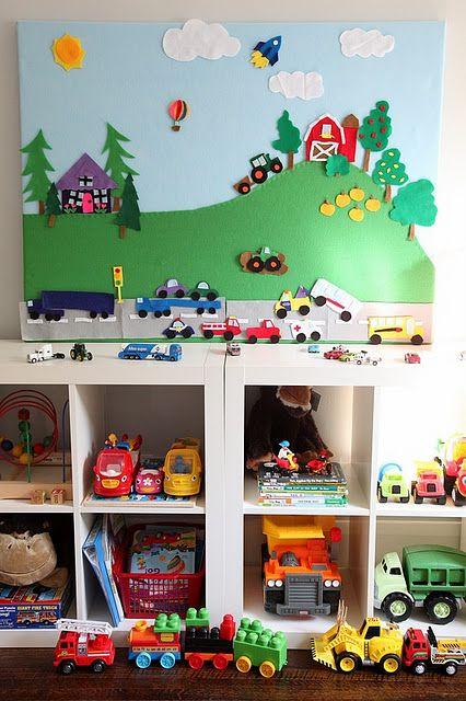 make a felt board: Craft, Quiet Book, Diy Felt, Kids Room, Felt Boards, Playroom