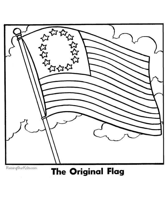 First American Flag 13 stars for 13 originakl colonies.