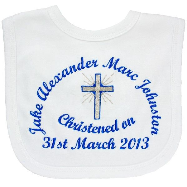 Personalised Christening Bibs only £5.99 from Heavensent baby Gifts