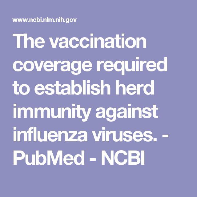 The vaccination coverage required to establish herd immunity against influenza viruses.  - PubMed - NCBI