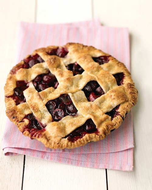 What a pain this was! My fingers were black for days! Nevertheless this was very delicious! i would just make sure you buy a cherry pitter first! Sweet Cherry Pie Recipe | Cooking | How To | Martha Stewart Recipes