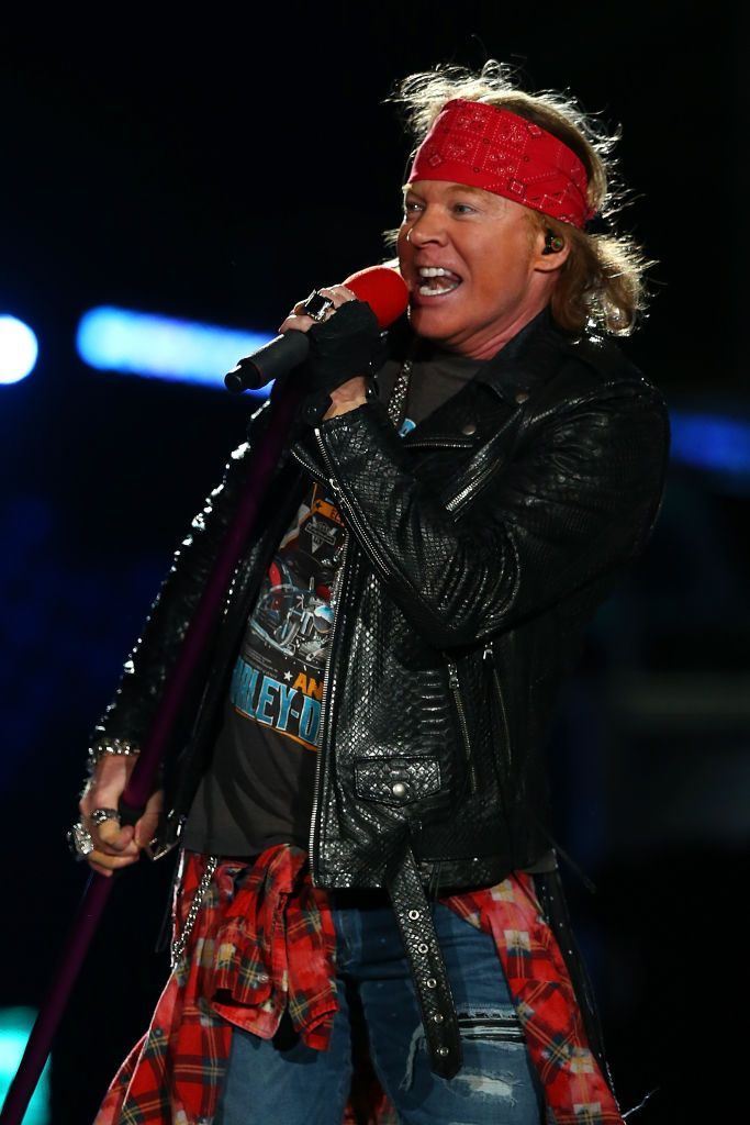 Axl Rose perfoms on stage during the Guns N' Roses 'Not In