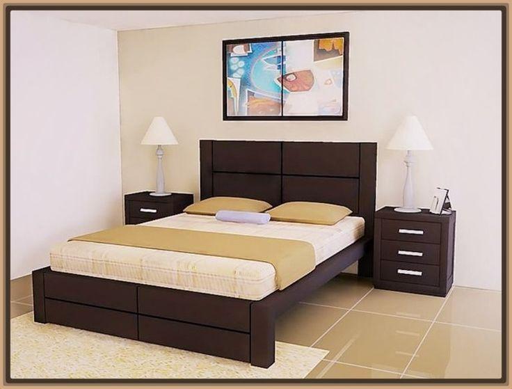 The 25 best modelos de camas matrimoniales ideas on for Cama queen de madera