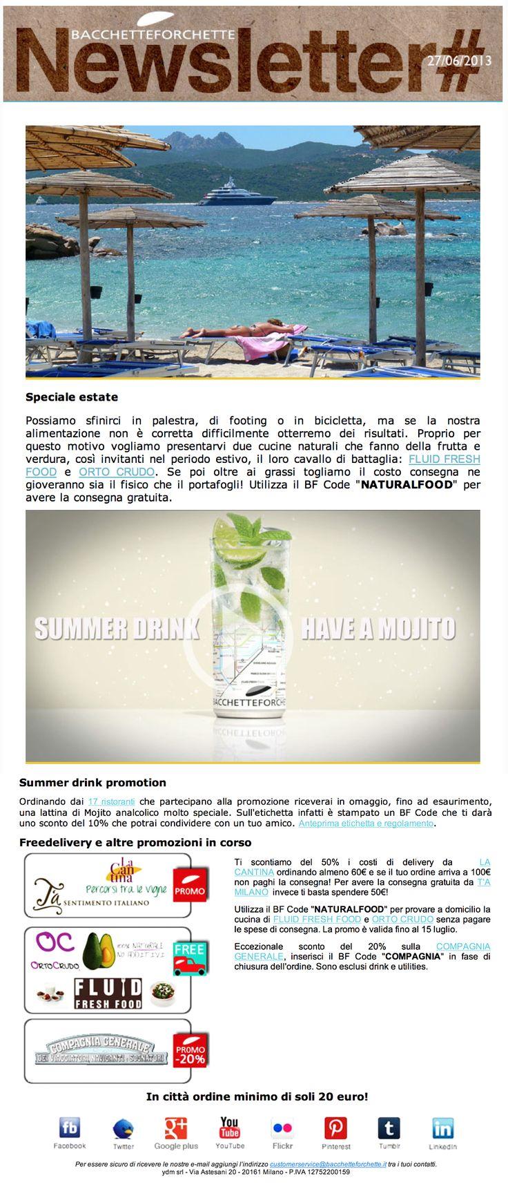 La Newsletter di luglio con le promo Natural Food e Summer drink promotion
