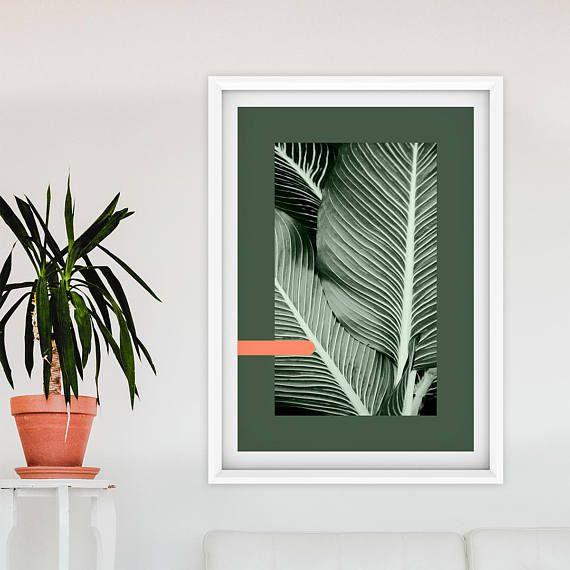 Palm Leaf Wall Art Plant Decor Banana Print