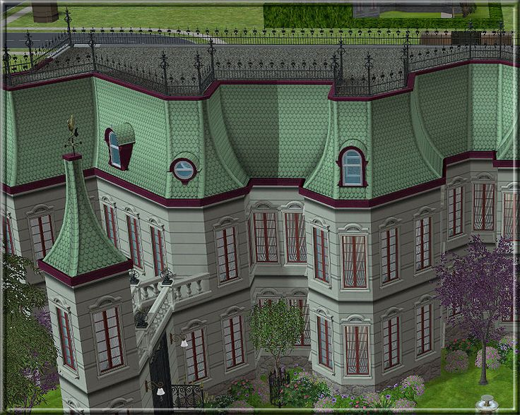 how to build roofs sims 3