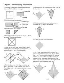 Pin by mrs harris teaches on a chaos of classroom ideas for Crane folding instructions