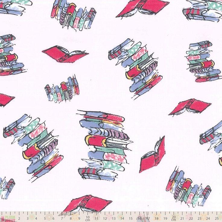 Roald Dahl - Bunk-Doodling Books - cotton fabric