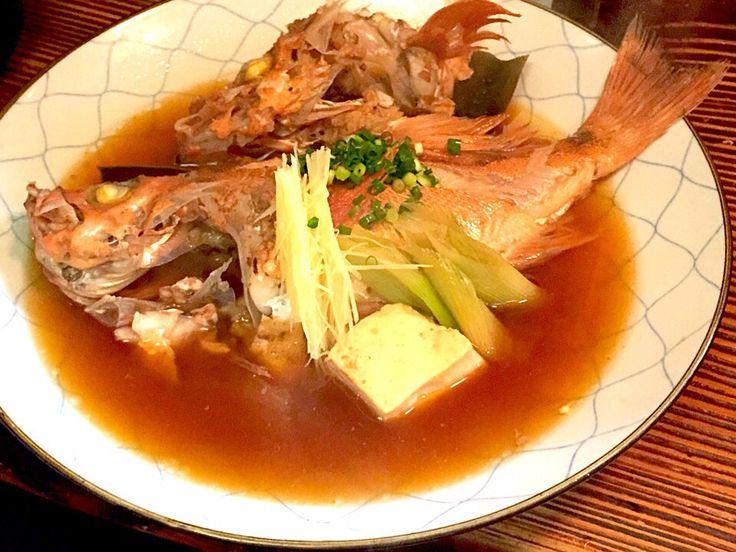 秋田太平山総本店のメバル煮付けは豪快です!