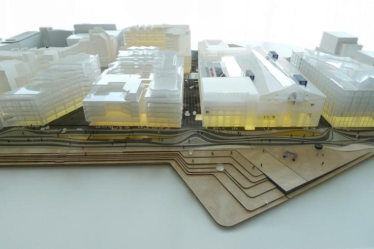 Aker Brygge masterplan - Model