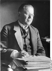 Matthias Erzberger (20 September 1875 – 26 August 1921) was a German publicist and politician, Reich Minister of Finance from 1919 to 1920. Prominent in the Catholic Centre Party, he spoke out against World War I from 1917 and as authorized representative of the Reich government signed the armistice between Germany and the Allies. He was assassinated for this act by the right-wing terrorist Organisation Consul.