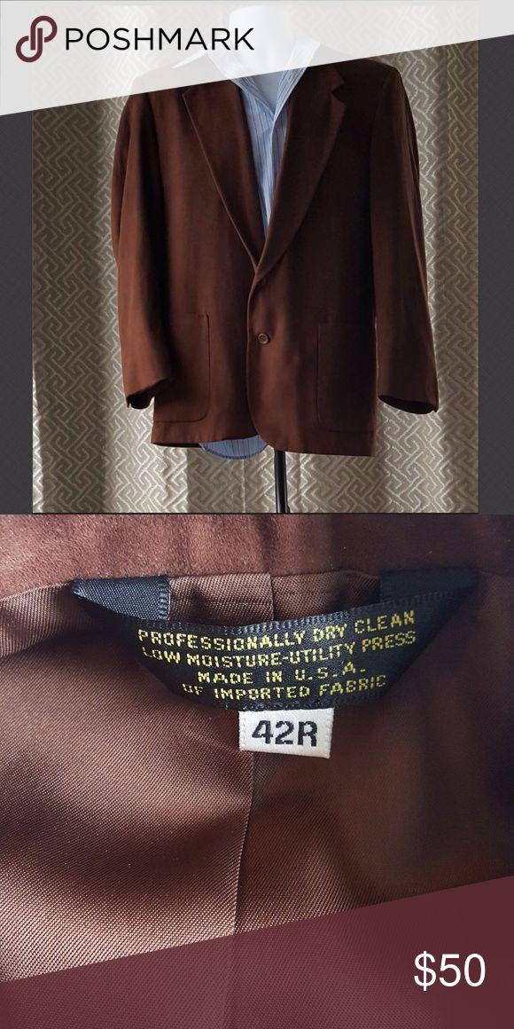 Men's Suede Blazer Men's Genuine Suede Sport Coat.  Gently used in great condition. Suits & Blazers Sport Coats & Blazers