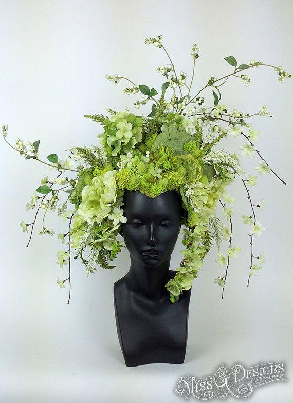 READY TO SHIP Green Flower & Mushroom by MissGDesignsShop on Etsy
