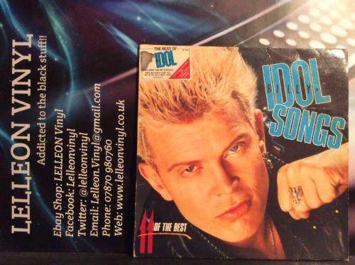 Billy Idol Songs 11 Of The Best LP Album Vinyl Record BILTVD1 Pop Rock 80's Music:Records:Albums/ LPs:Pop:1980s