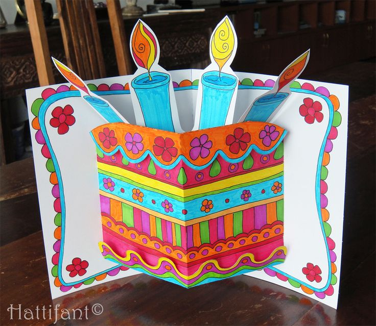 43 best Birthday images on Pinterest Cards, Craft cards and Pop - birthday cake card template