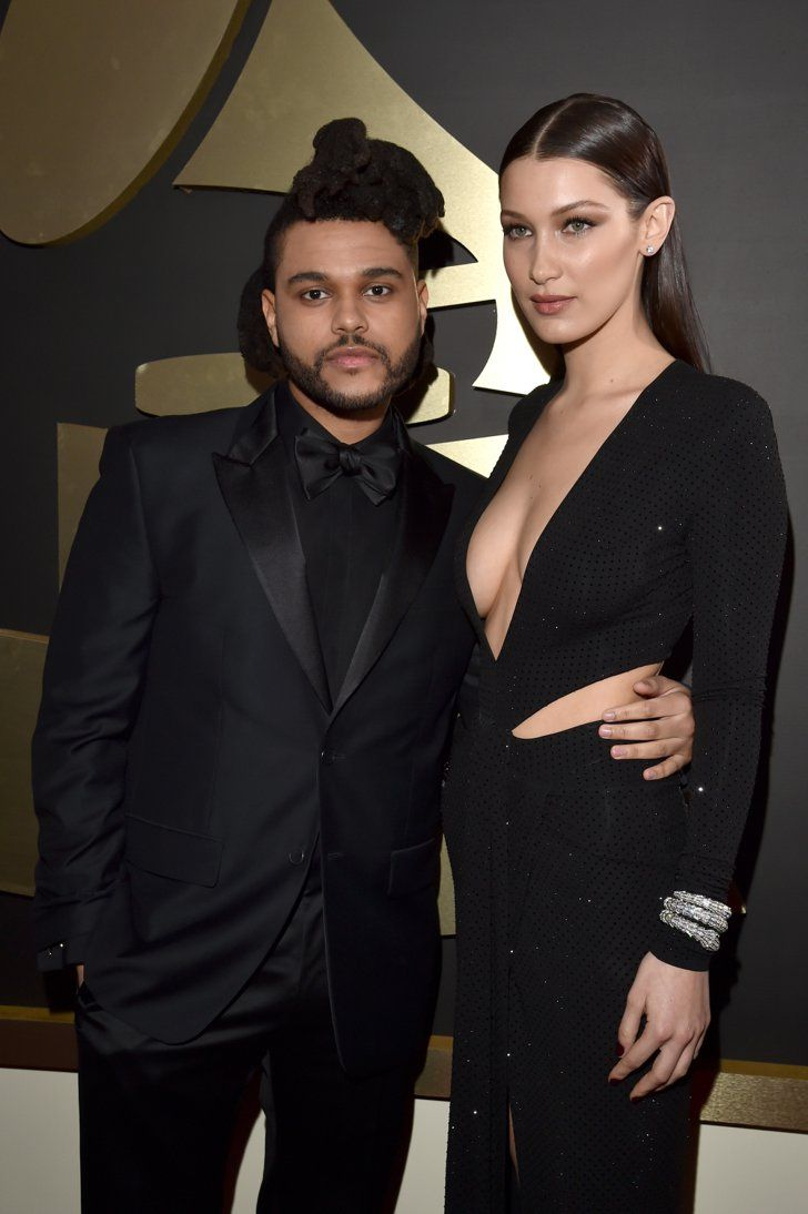 Pin for Later: The Weeknd and Bella Hadid Make Their Red Carpet Debut at the Grammys